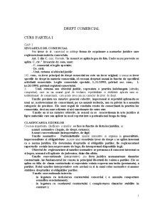 Drept Comercial I - Pagina 1
