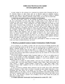 Arhitectura Bisericească la Români - Pagina 1