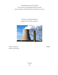 Centrala Termoelectrica - Sursa de Poluare a Aerului - Pagina 1