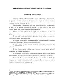 Funcția Publică în Sistemul Administrativ Francez și German - Pagina 1