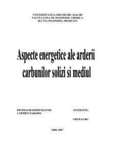Aspecte Energetice ale Arderii Carbunilor Solizi si Mediul - Pagina 1
