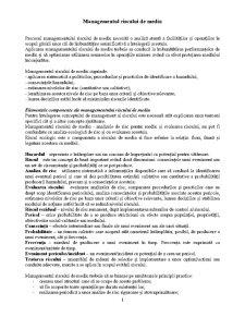 Managementul Riscului de Mediu - Pagina 1