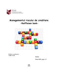 Managementul Riscului de Creditare - Raiffeisen Bank - Pagina 1