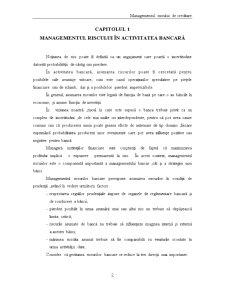 Managementul Riscului de Creditare - Raiffeisen Bank - Pagina 3