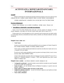 Relatii Monetar Financiare Internationale - Pagina 1