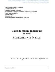 Contabilitate în TCS - Pagina 1