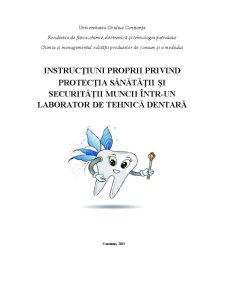 Infiintarea unui Laborator de Tehnica Dentara - Pagina 1