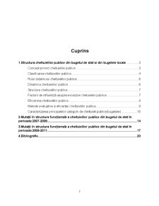 Analiza Structurii și Dinamicii Cheltuielilor Publice din Bugetul de Stat al României - Pagina 2