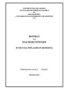 Evolutia Inflației în România - Pagina 1
