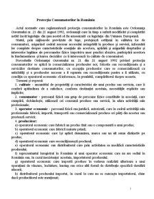 Protecția Consumatorilor în România - Pagina 1