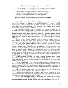 Analiza Rapoartelor Consolidate - Pagina 1