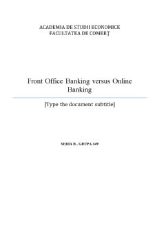 Front Office Banking versus Online Banking - Pagina 1