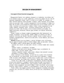 Decizia în Management - Pagina 1