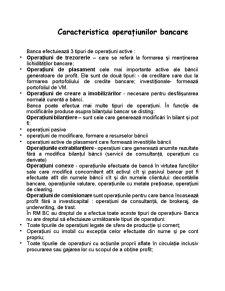 Caracteristica Operațiunilor Bancare - Pagina 1