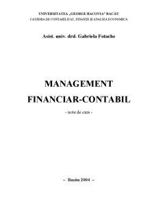 Management Financiar-Contabil - Pagina 1