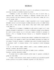 Studiu privind Organizarea Contabilitatii de Gestiune in Productie - Pagina 2