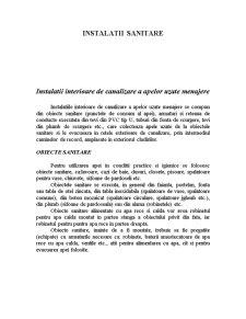 Instalații Sanitare în Construcții Civile - Pagina 1