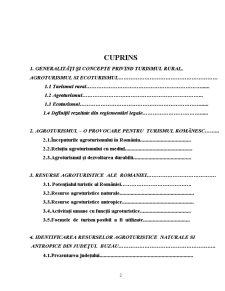 Cercetări Privind Valorificarea Durabilă a Resurselor Turistice și Agroturistice din Județul Bacău - Pagina 2