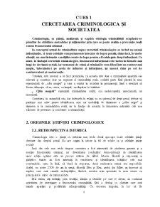Cercetarea Criminologica și Societatea - Pagina 1