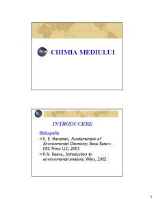 Chimia Mediului - Curs 1 - Pagina 1