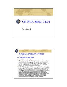 Chimia Mediului - Curs 2 - Pagina 1