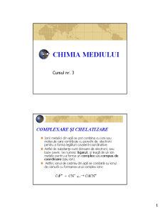 Chimia Mediului - Curs 3 - Pagina 1