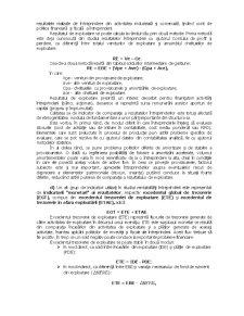 Cadrul Tradițional al Evaluării Rezultatelor Economico - Financiare ale unei Firme - Pagina 5