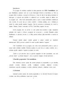 Sisteme Informatice Financiar - Contabile Comparate. Prezentare Program - CIEL - Pagina 3