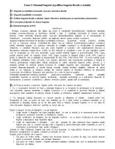 Politica Bugetar-Fiscala a Republicii Moldova - Pagina 1