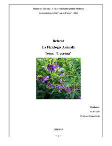 Fiziologia Animala - Lucerna - Pagina 1