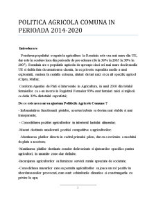 Politica Agricola Comuna in Perioada 2014-2020 - Pagina 1