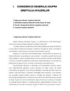 Considerații Generale asupra Dreptului Afacerilor - Pagina 1