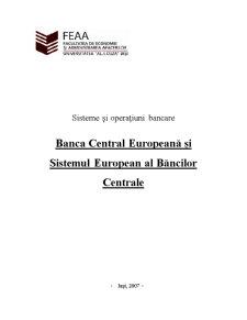 Banca Central Europeană și Sistemul European al Băncilor Centrale - Pagina 1
