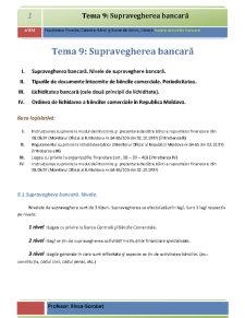 Supravegherea Bancară - Pagina 1