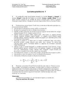 Teoria Informatiei si Codarii - Pagina 1