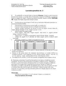 Teoria Informatiei si Codarii - Pagina 2