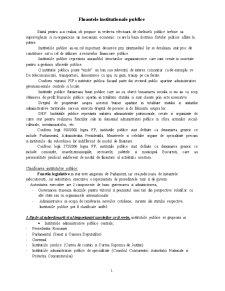 Finante Publice Institutionale - Pagina 1