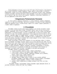 Organizarea si Functionarea Parlamentului Romaniei - Pagina 1