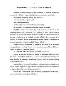 Rețele și Instalații Electrice de Șantier - Pagina 1