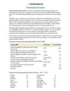 Institutiile Uniunii Europene - Pagina 1