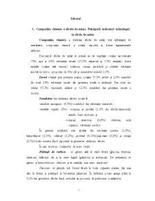 Compozitia Chimica a Sfeclei de Zahar - Principalii Indicatori Tehnologici la Sfecla de Zahar - Pagina 1