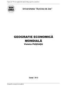 Geografie Economică Mondială - Pagina 1