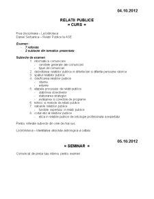 Relatii Publice - Pagina 2