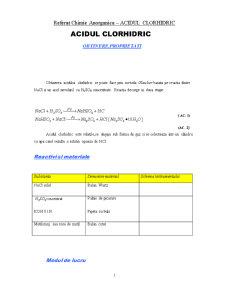 Acidul Clorhidric - Pagina 1