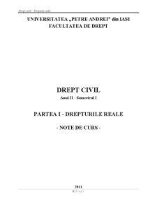 Drept Civil - Drepturi Reale - Pagina 1