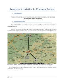 Amenajare Turistica in Comuna Bobota - Pagina 1