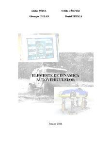 Elemente de Dinamica a Autovehiculelor - Pagina 1
