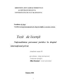 Naționalitatea Persoanei Juridice în Dreptul Internațional Privat - Pagina 1