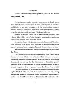 Naționalitatea Persoanei Juridice în Dreptul Internațional Privat - Pagina 3