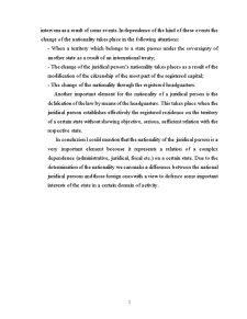 Naționalitatea Persoanei Juridice în Dreptul Internațional Privat - Pagina 5